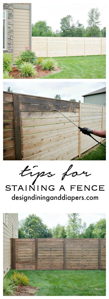 Freshen up your fence this summer! Here are some tips on staining a fence!