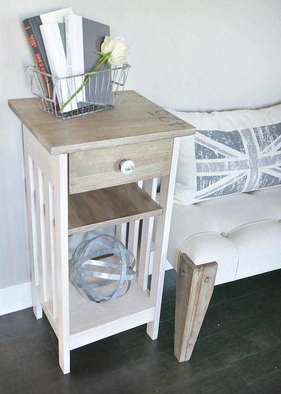 DIY Furniture Makeover - Telephone Table Stained with Water Based Stain