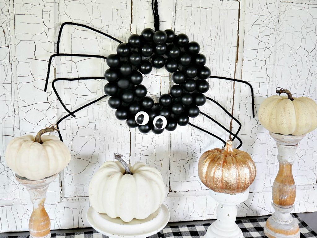 DIY Ping Pong Spider Wreath