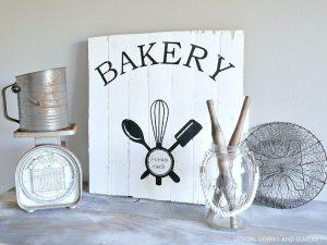 DIY Vintage Inspired Bakery Sign