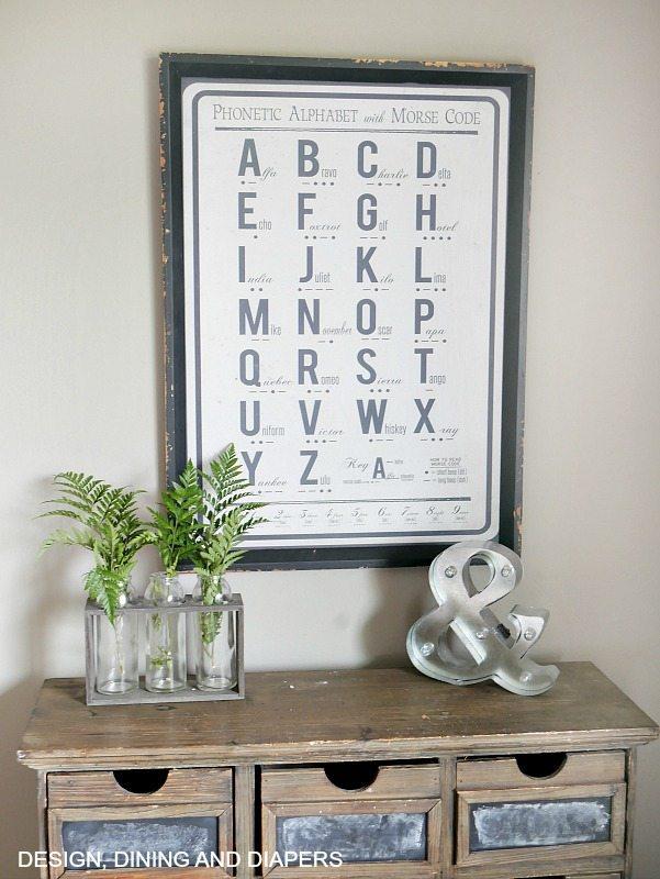 Farmhouse Alphabet Sign