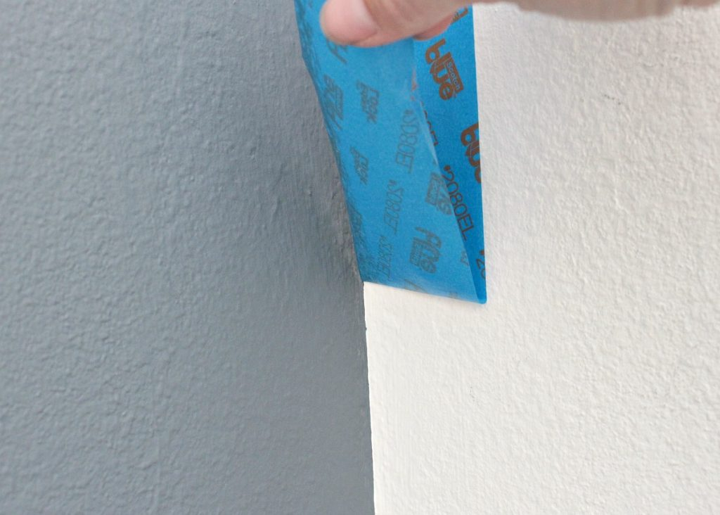 Guest Room Makeover - Pulling Delicate Surface Tape