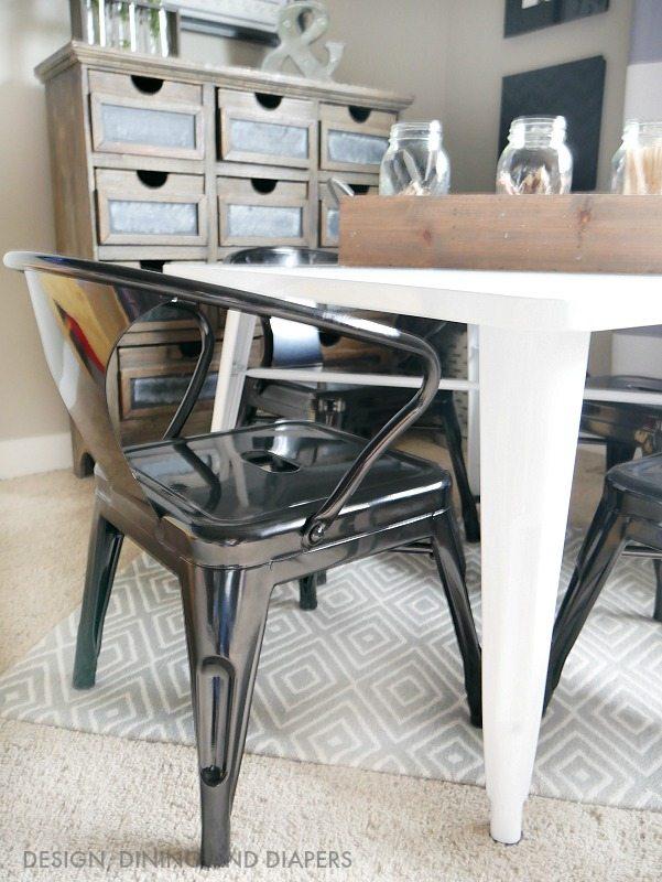 Metal Kidu0027s Chairs & Farmhouse Kidu0027s Table and Chair Set - Taryn Whiteaker