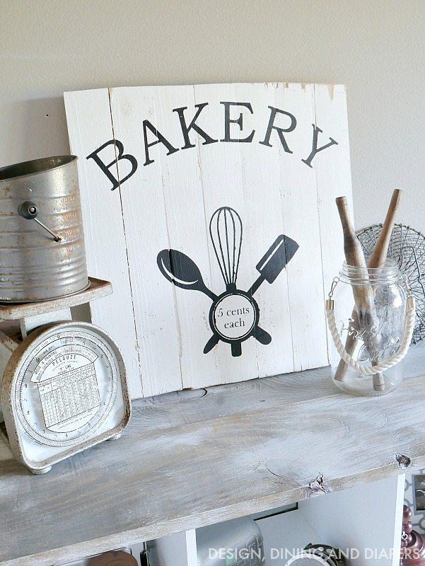 Vintage Bakery Sign Tutorial