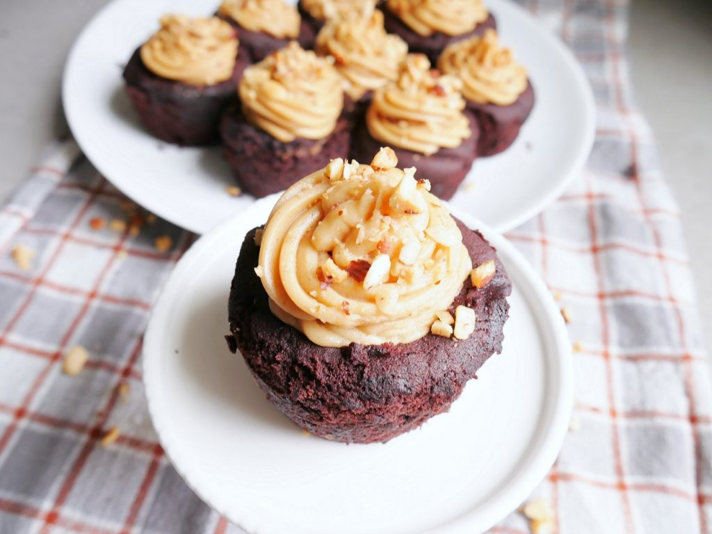 Super Easy Gluten Free Chocolate Peanut Butter Cupcakes
