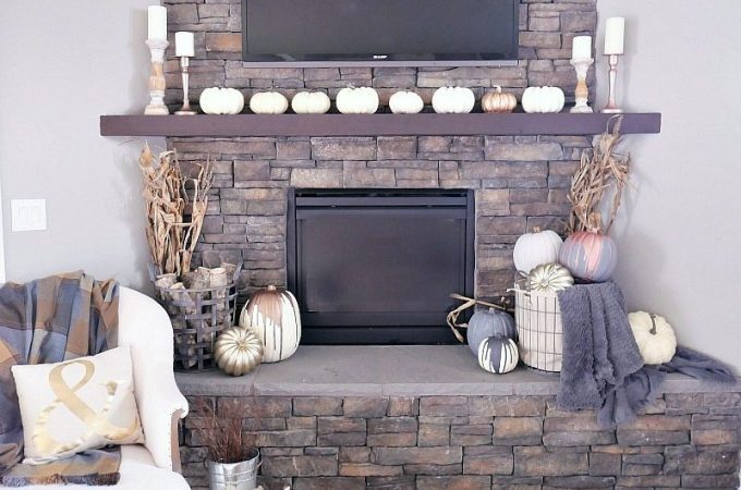 fall-mantel-with-white-pumpkins-and-neutral-tones-2