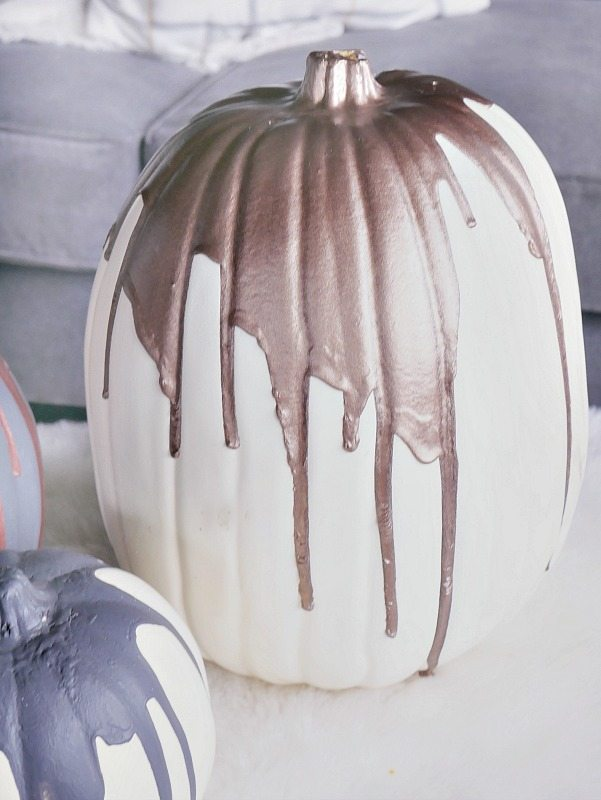 Paint Dripped Pumpkins