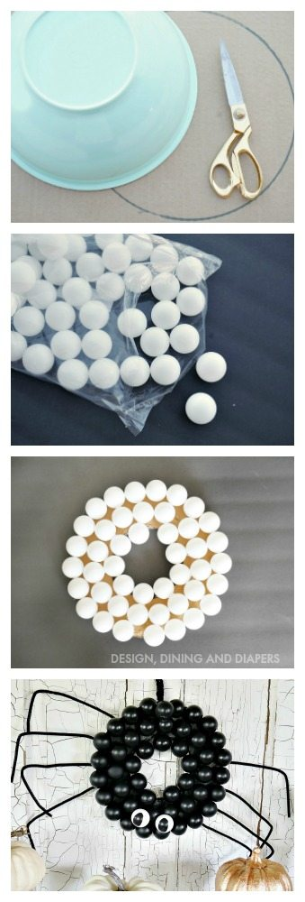 cute-spider-wreath-made-with-ping-pong-balls