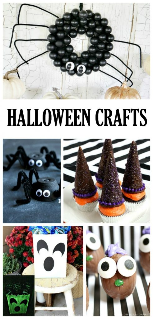 Lots of HALLOWEEN CRAFTS for you to try! Great Halloween crafts for kids too!