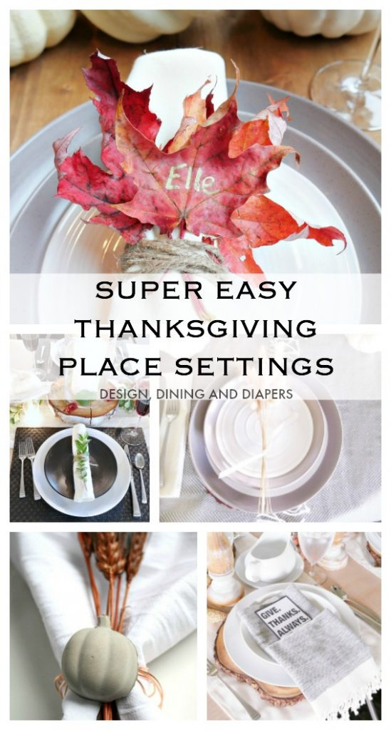 Easy Thanksgiving Place Setting Ideas