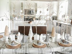 Cozy and Elegant Winter Table Setting