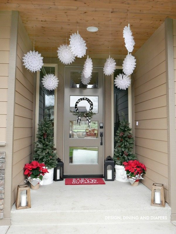 Red and White Christmas Porch