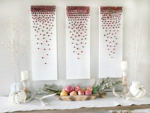 DIY Cranberry Decor