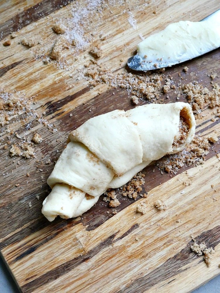 Cinnamon Roll Crescent Rolls