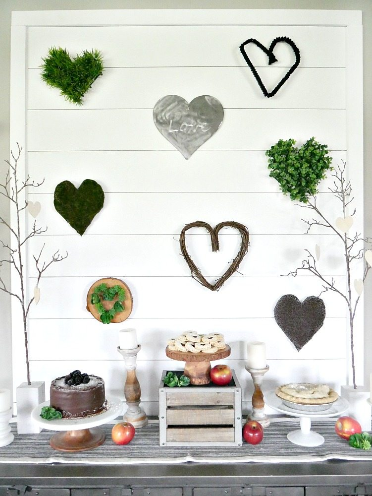 Nature Inspired Valentine's Day Display