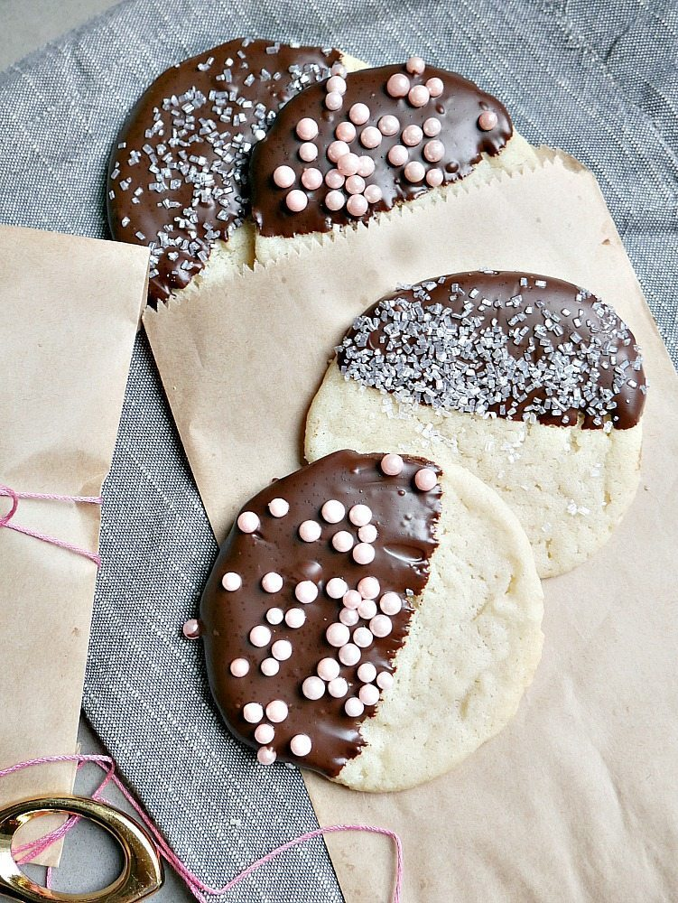 Easy Chocolate Dipped Cookies
