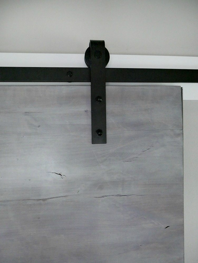 Modern Gray Barn Door Reveal