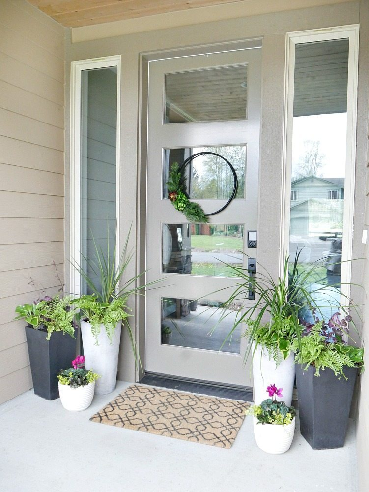 Summer Porch With Multiple Planters