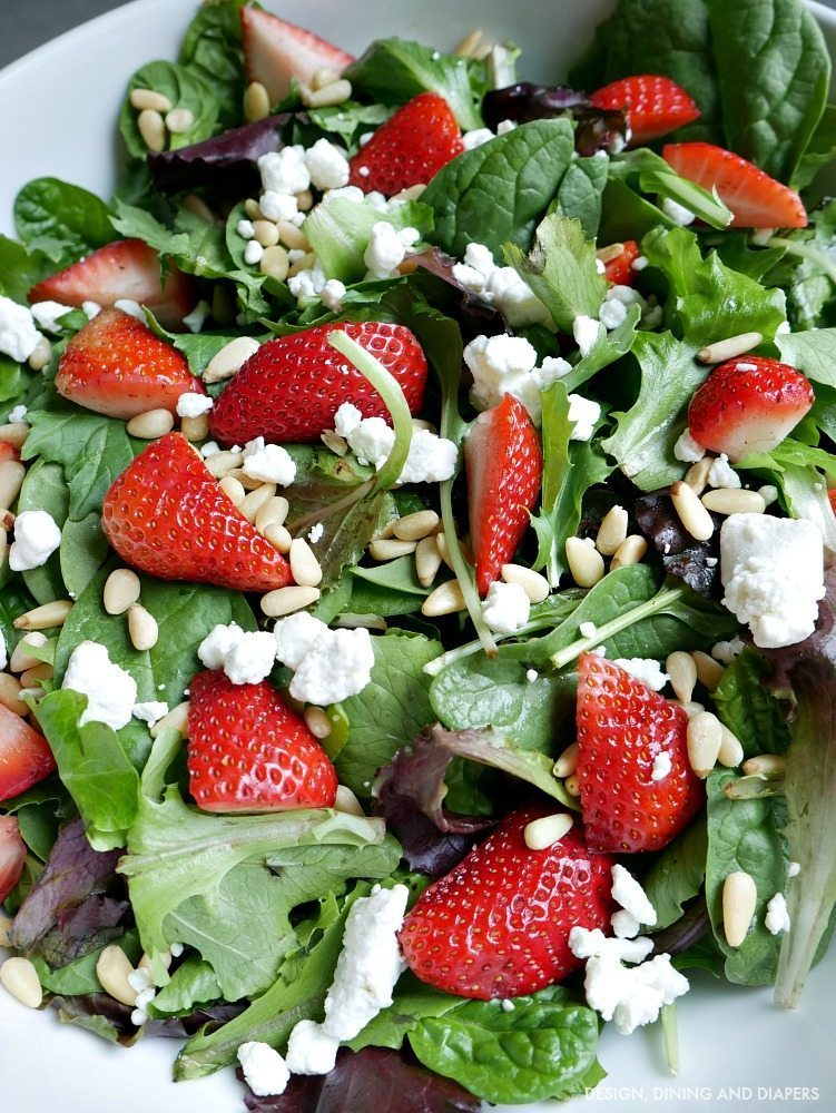 Strawberry Goat Cheese Salad With Homemade Dressing