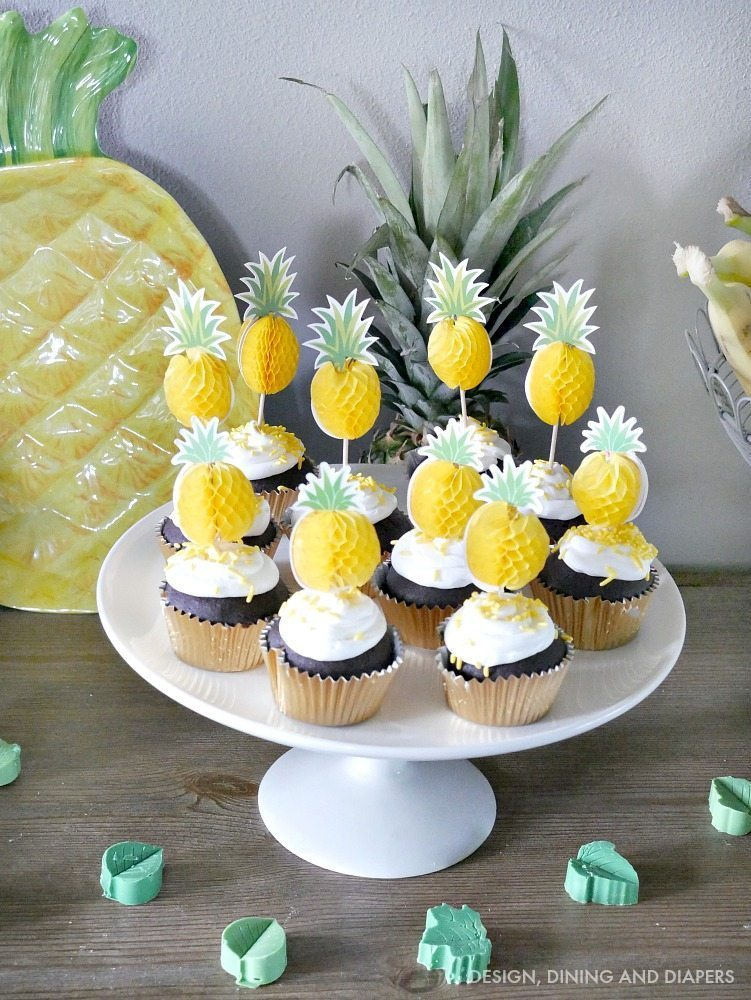 Pineapple Cupcake Toppers