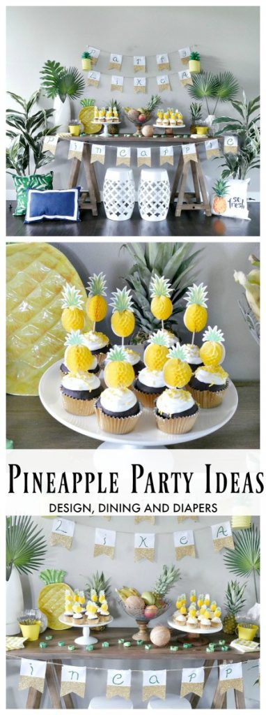 Pineapple Party Ideas filled with pineapple themed food and cute pineapple decor!