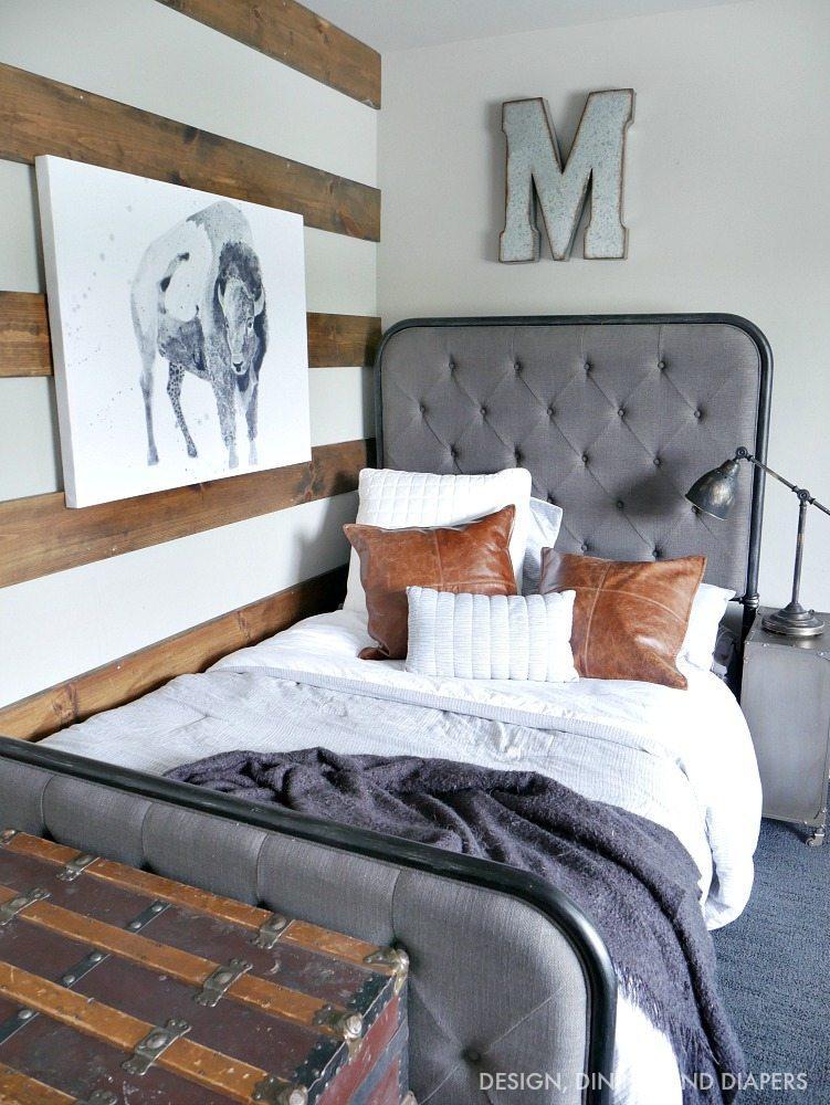 Rustic Modern Boys Room