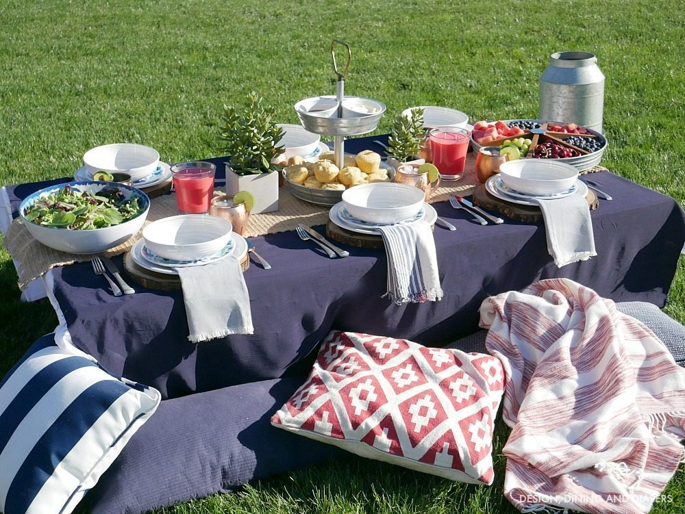 Rustic Chic Outdoor BBQ with ground seating