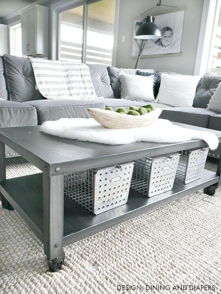 Industrial Modern Decor on Coffee Table
