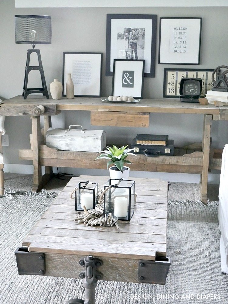 Black and White Rustic Modern Summer Decor