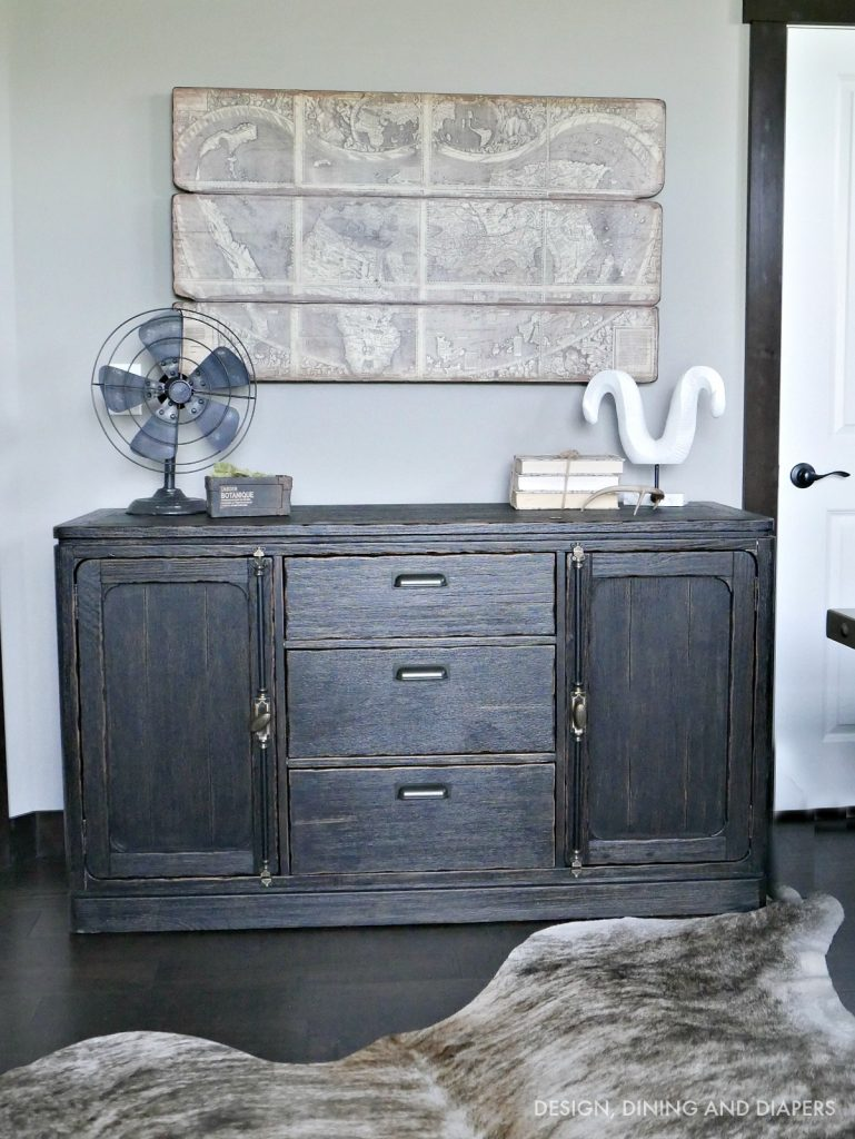 Rustic Chic Sideboard for Industrial Home Office