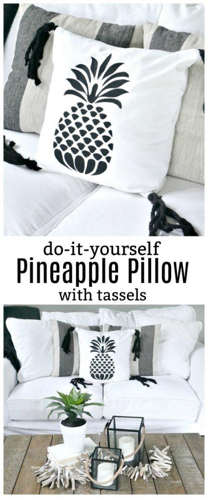 DIY Pineapple Pillow