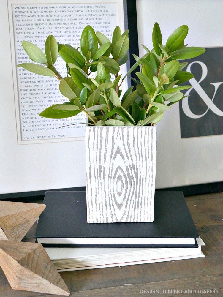 DIY Faux Bois Vase