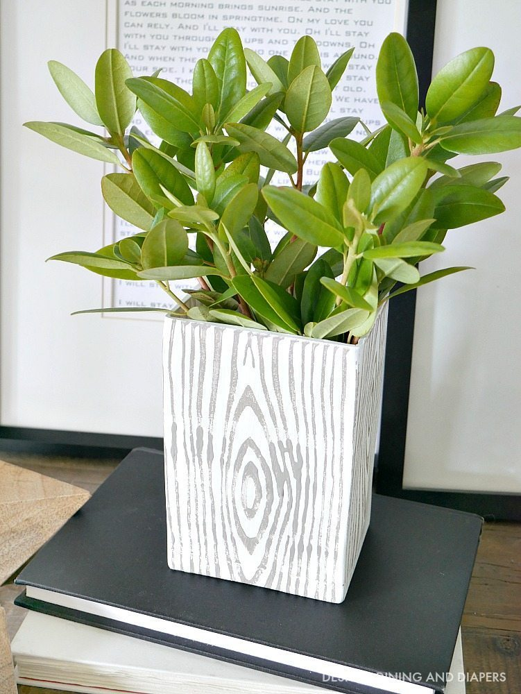 Rustic Vase with Greenery